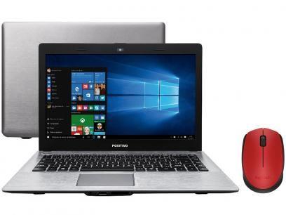 """Notebook Positivo Premium XR7556 Intel Core i3 - 4GB 500GB LED 14"""" + Mouse Sem Fio Laser 1000dpi com as melhores condições você encontra no Magazine Jguidi. Confira!"""