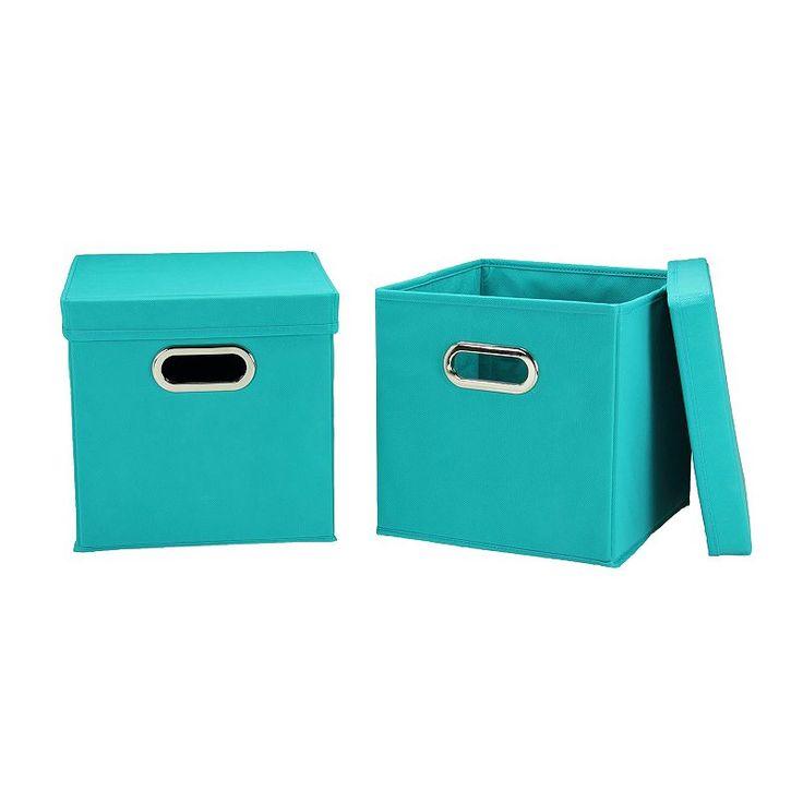 Household Essentials 2 Pk. Collapsible Storage Bins, Brt Purple