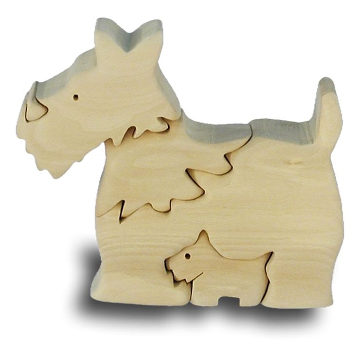 Scottish Terrier Handcrafted Wooden Puzzle Childrens Game TOY DOG Model Figurine | eBay