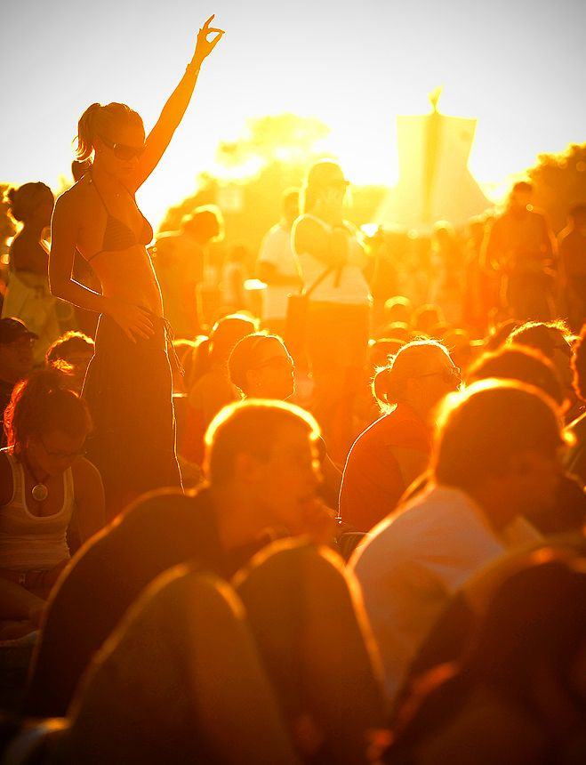 Concert at sunset