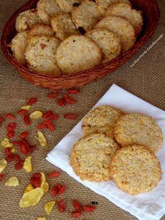 Biscotti grancereale con bacche di gojii, senza glutine e lattosio. Croccanti e gustosi, come gli originali!