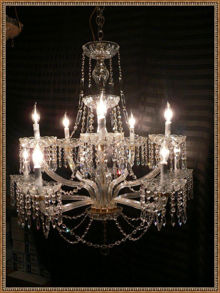 Stunning Vintage Venetian Crystal Chandelier RARE Unique