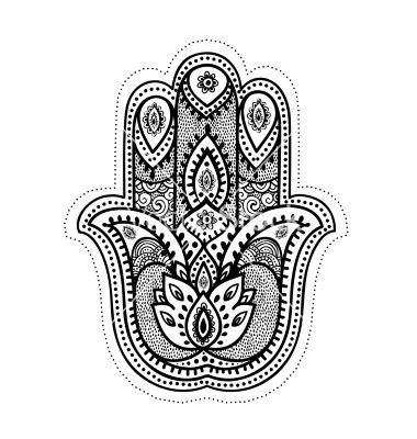 set of ornamental indian symbols vector hamsa hand by transia on vectorstock cool new. Black Bedroom Furniture Sets. Home Design Ideas