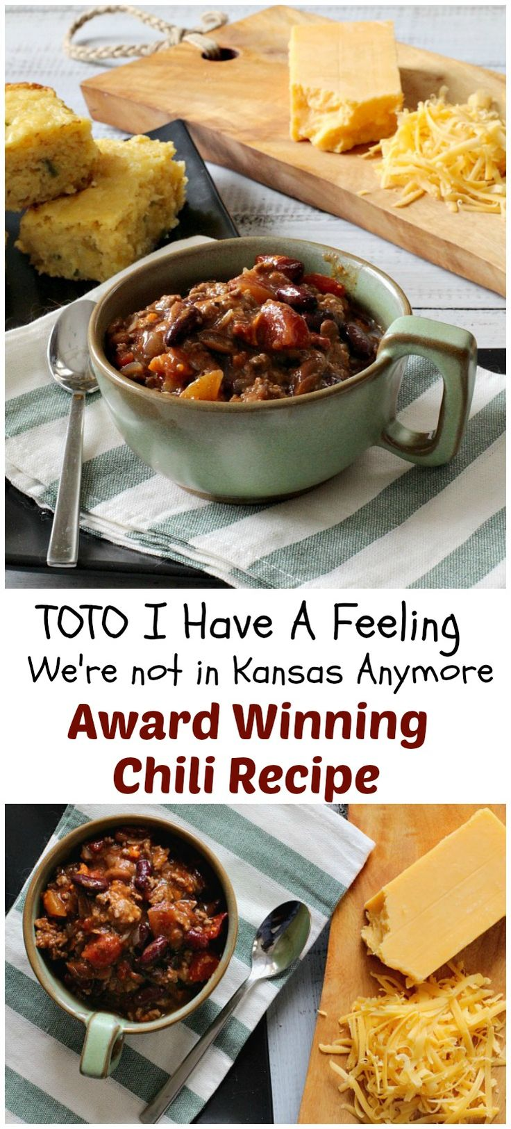 A combination of my Kansas family chili recipe with some unique additions, this simple beef and bean chili recipe became an award winning chili recipe in Colorado.  via @lannisam
