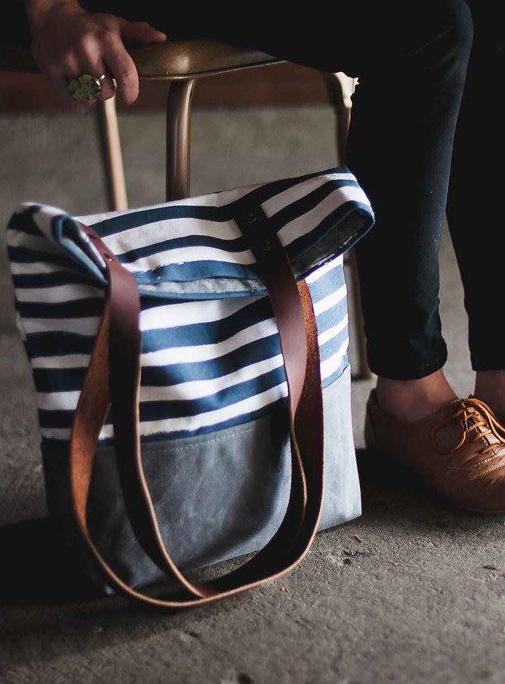 Stripes Shopper Tote