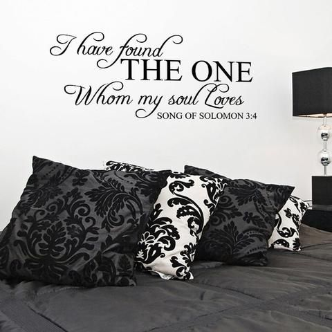 I Have Found the One My Soul Loves Song of Solomon Bible Wall Decal