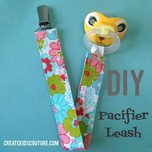 Free tutorial: make a pacifier leash for the bebe in your life!
