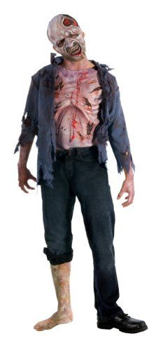 The Walking Dead TV Show Teen Deluxe Decomposed Zombie Costume @ niftywarehouse.com