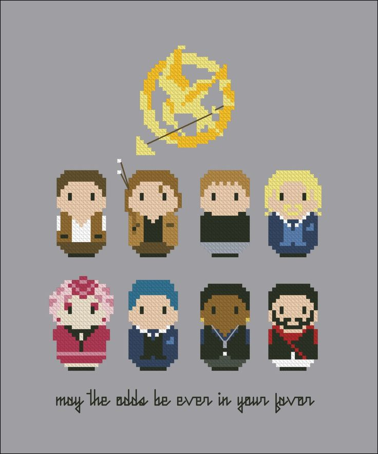 The Hunger Games - Cross Stitch Patterns - CloudsFactory