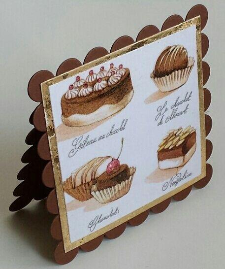 Shaped Card, Serviette, Pralinen, IndigoBlu Megaflakes