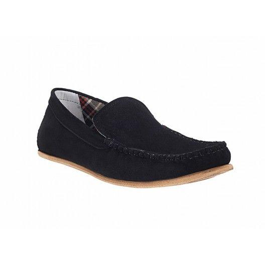 Pánske mokasíny čiernej farby COMODOESANO - fashionday.eu