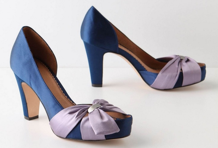 Cinched Satin Peep-Toe - Miss Albright - AnthropologieHoliday Parties, Satin Peep To, Style, Wedding Shoes, Satin Peeptoe, Cinch Satin, Dance Shoes, Parties Shoes, Something Blue
