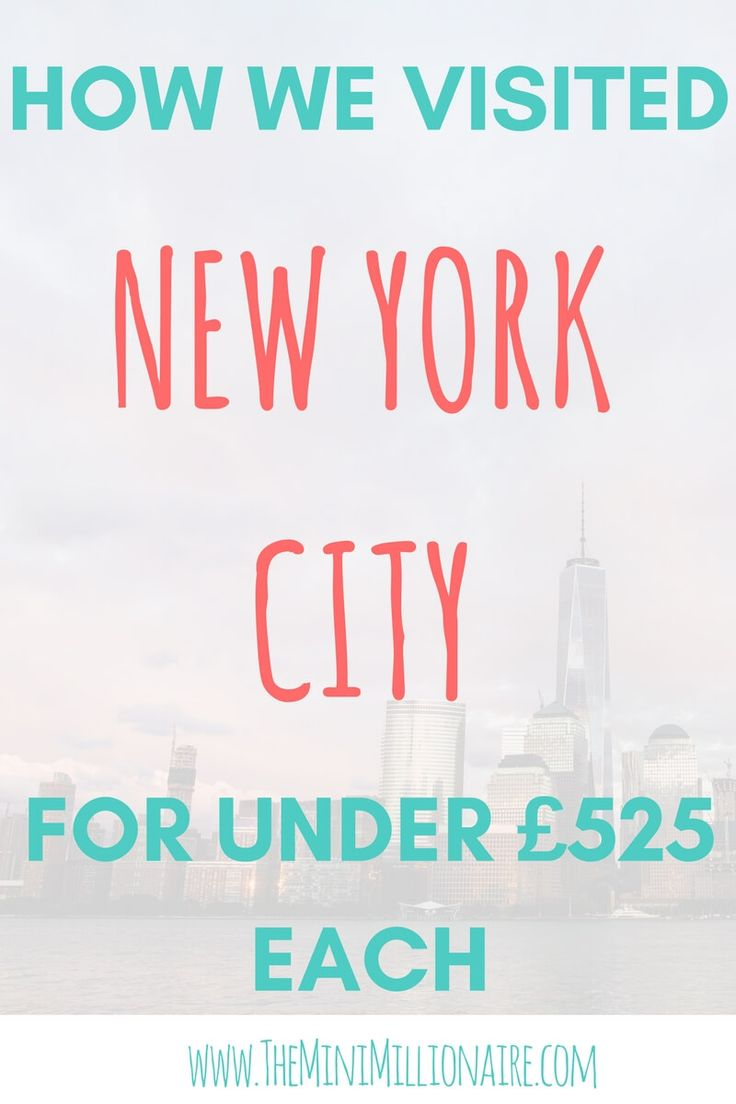 New York City can be a budget friendly holiday destination. We visited New York for less than £525 each. This included us staying in a 3* hotel in central manhattan, and all our extras such as travel insurance and ESTA. Thrifty travel is budget friendly travel - that's the future!