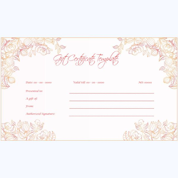 53 Best Gift Certificate Templates Images On Pinterest Gift