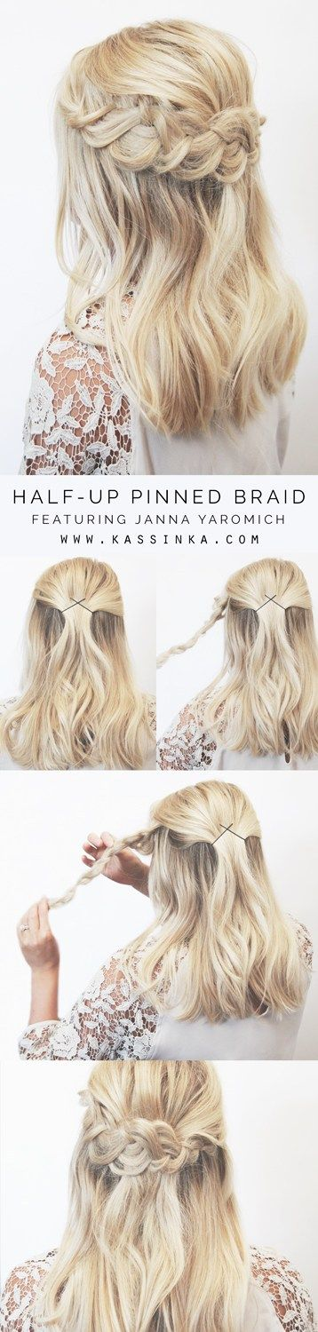 Half-Up Pinned Braid Look Tutorial - You've already found the perfect dress. Your feet will be super happy with the stellar shoes you bought. Your accessories are on point. The only thing left to finish your 2017 prom look are your hair and makeup. Whether you're scheduling an appointment with a stylist or taking a stab at completing your look on the big day, there is plenty of prom hair and makeup inspiration to go around. Here are 20 inspired prom hair and makeup looks to keep you looking…
