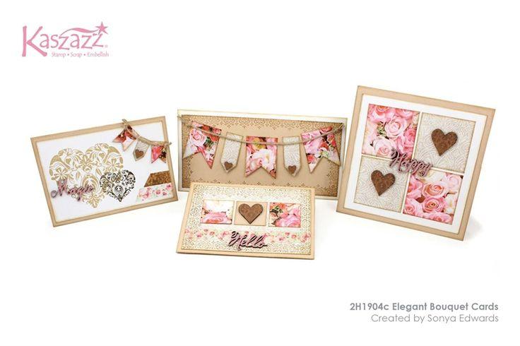 2H1904c Elegant Bouquet Cards