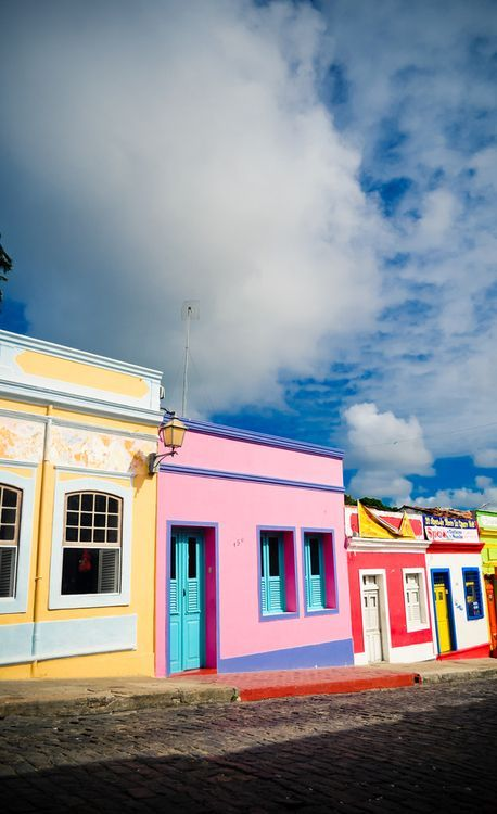 Colorful buildings in Olinda, Brazil