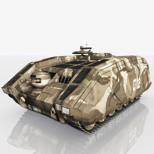 cdf apc armoured personnel carrier 3d model max obj pz3 pp2 mtl 1