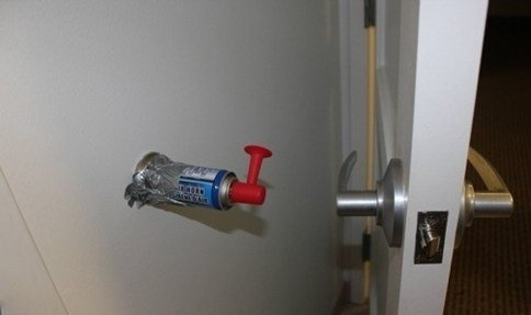 The old Air Horn door stop prank  http://fotfl.com/?p=965