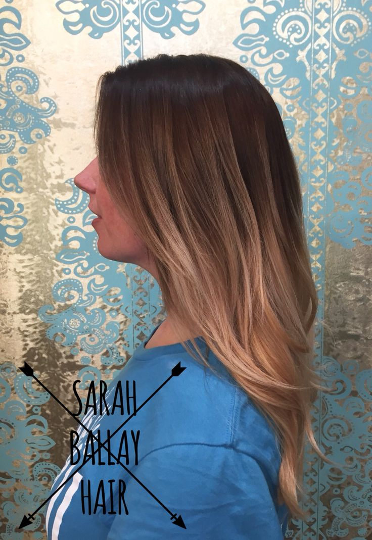 Gorgeous ombre. Chocolate brown melting into a mix of natural and warm blonde