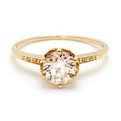 Fun new twist on the 'standard' solitaire ring... Engagement | Anna Sheffield