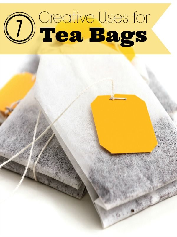 7 creative uses for tea bags them creative and an - Uses for tea bags ...