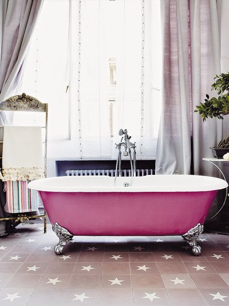 baera exenta con patas en rosa