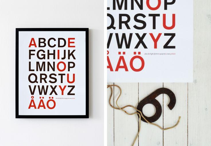 »The Alphabet » - shop.annalarsson.se