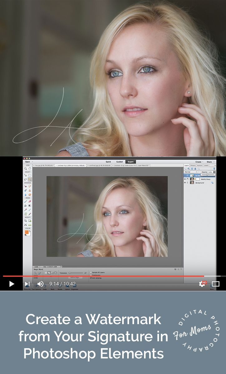 How to fix color cast in photoshop elements - Create A Signature Watermark In Photoshop Elements