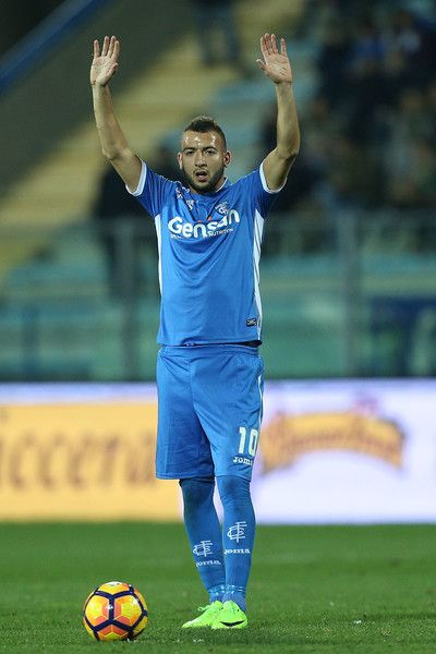 Omar El Kaddouri of Empoli FC reacts during the Serie A match between Empoli FC and SS Lazio at Stadio Carlo Castellani on February 18, 2017 in Empoli, Italy.
