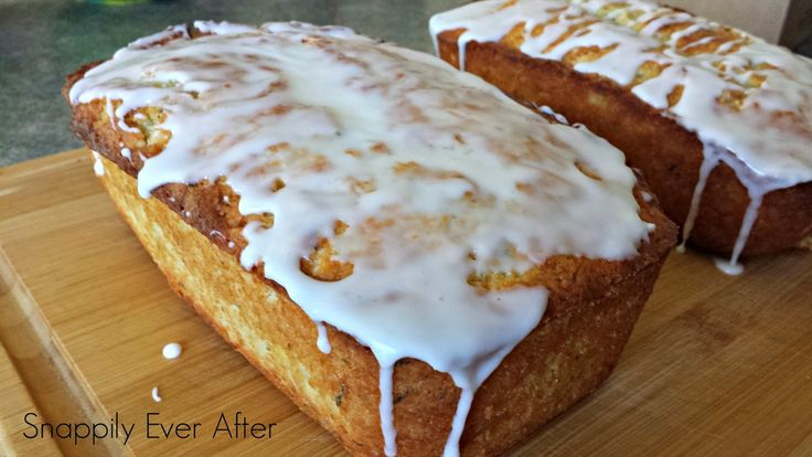 Snappily Ever After: Glazed Lemon Zucchini Bread