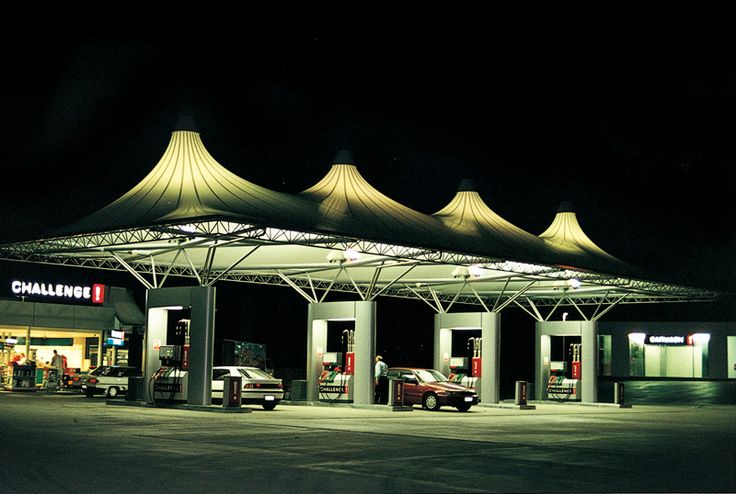 A unique design of a Petrol Forecourt.
