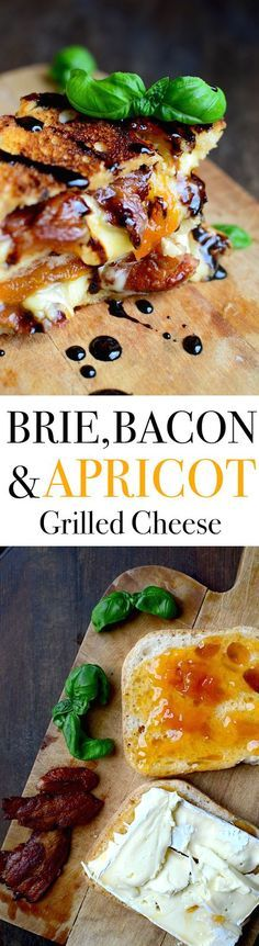 Bacon, Brie, and Apricot Grilled Cheese with Balsamic Reduction : yammiesnoshery