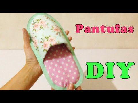 Como Fazer Pantufa para Adulto de Tecido Sem Costura - Artesanato DIY - YouTube