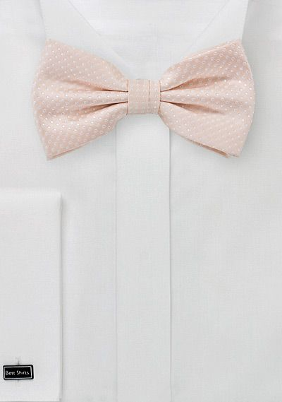 Elegant BLUSH PINK bow tie. In love with this color!!