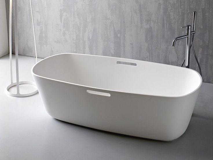Freestanding Korakril™ bathtub MASTELL Unico Collection by Rexa Design | design Imago Design