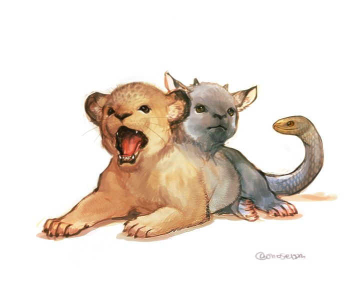 Adorable baby chimera yawns its way into your heart