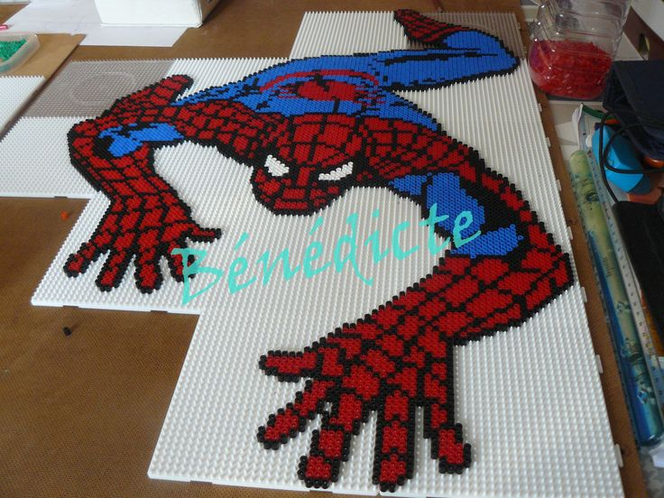 Hama Beads Spiderman: 66 Best Images About Spiderman On Pinterest