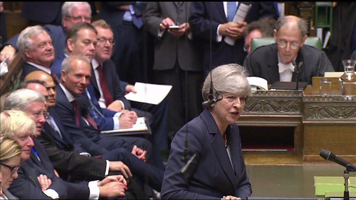 The prime minister has refused to say if she was lobbied about the DUP deal by Scottish Secretary David Mundell. The SNP's Westminster leader Ian Blackford pressed Theresa May on the matter during PMQs.