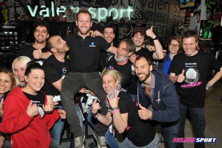 Shark Helmets Day guest rider TOM SYKES at Megastore Valerisport!!!! World Champion Superbike SBK Kawasaki Team