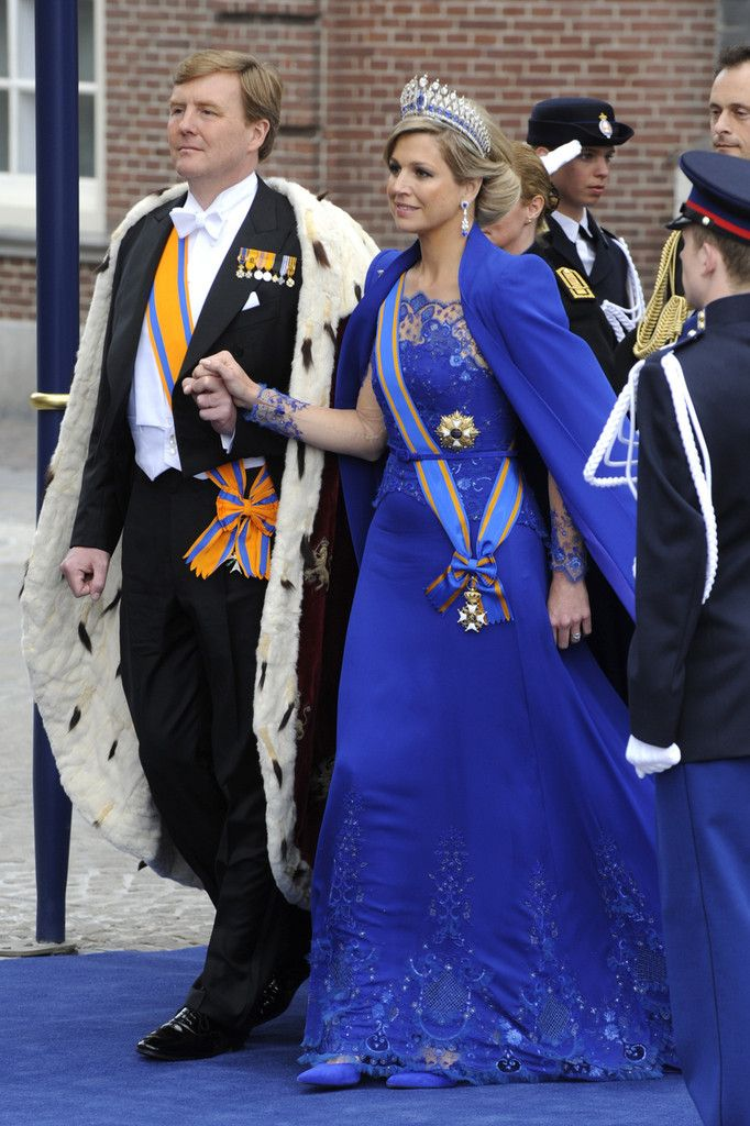 Inauguration of King Willem-Alexander, luv the dress of Queen Máxima by Jan Taminiau