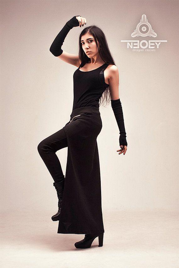 Black Leggings with asymmetrical skirt Jikan by от NEOBY Black Friday. Черная Пятница