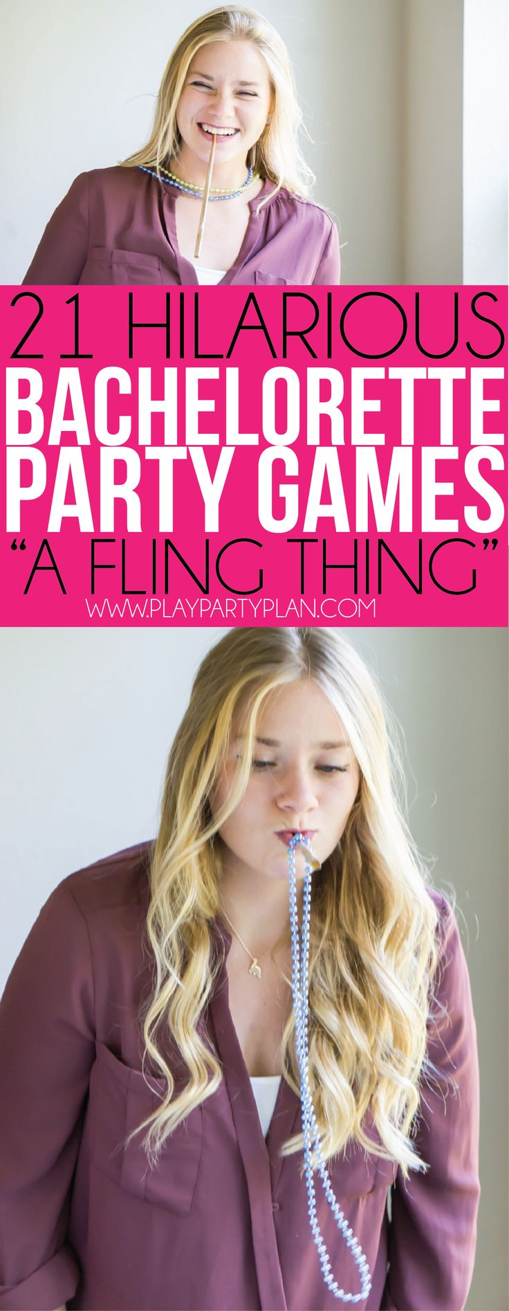 Try these fun bachelorette party games like hooking necklaces around your neck