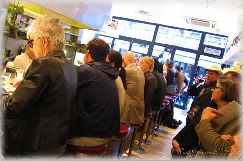 The 23 seat bar at Barrafina in Soho