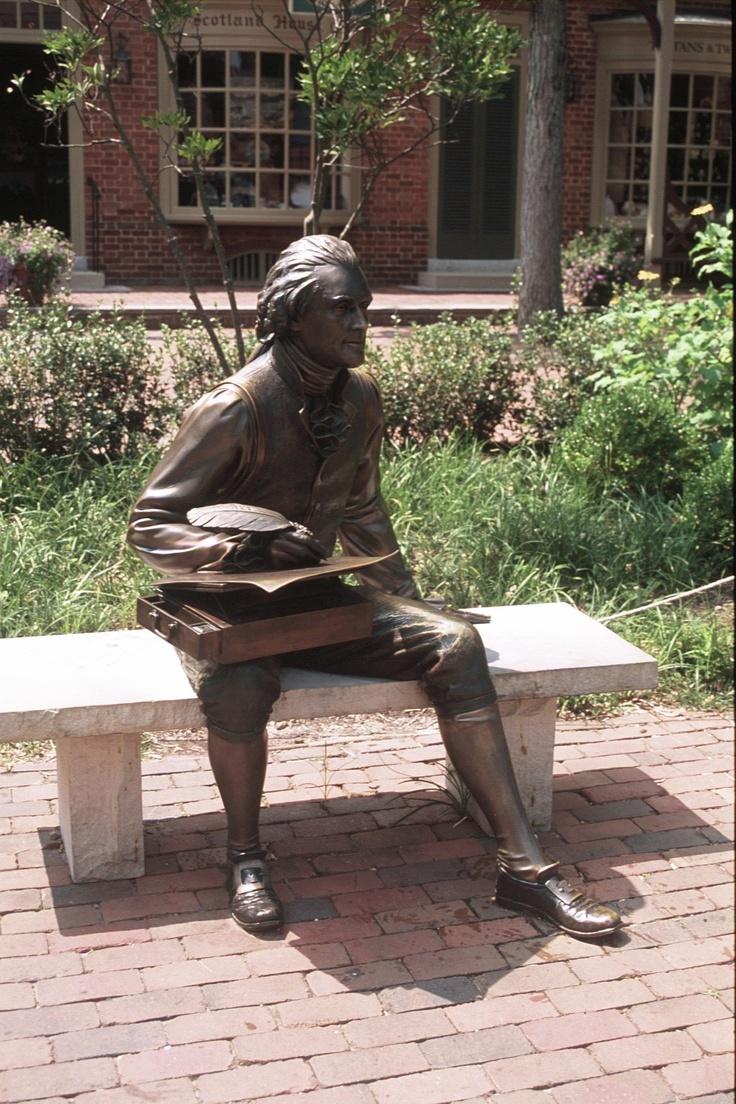 Thomas Jefferson statue in Williamsburg, Va on Merchant's ...