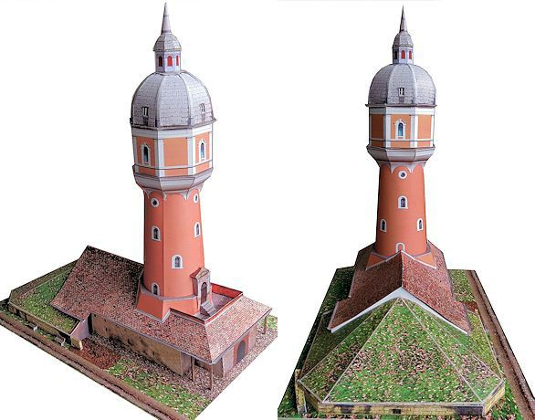 Popular The Water Tower at the Kollmann Park of Neu Ulm Free Building Paper Model Download