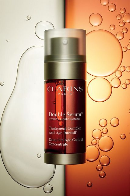 Clarins is launching a new anti-aging product called Double Serum, which arrives on the market in February 2013