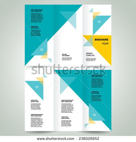 73 best Trifold Brochure images on Pinterest Brochures, Brochure - geometric flyer template