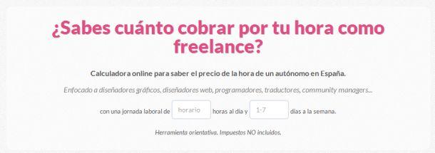 Calculadora freelance Socialancer