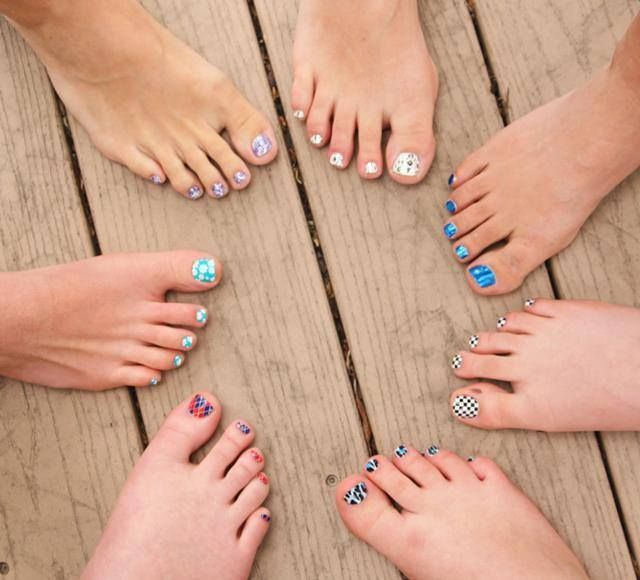 Jamberry pedicures. Get your toes ready for spring and summer!  Kaitlynmclean.Jamberrynails.com
